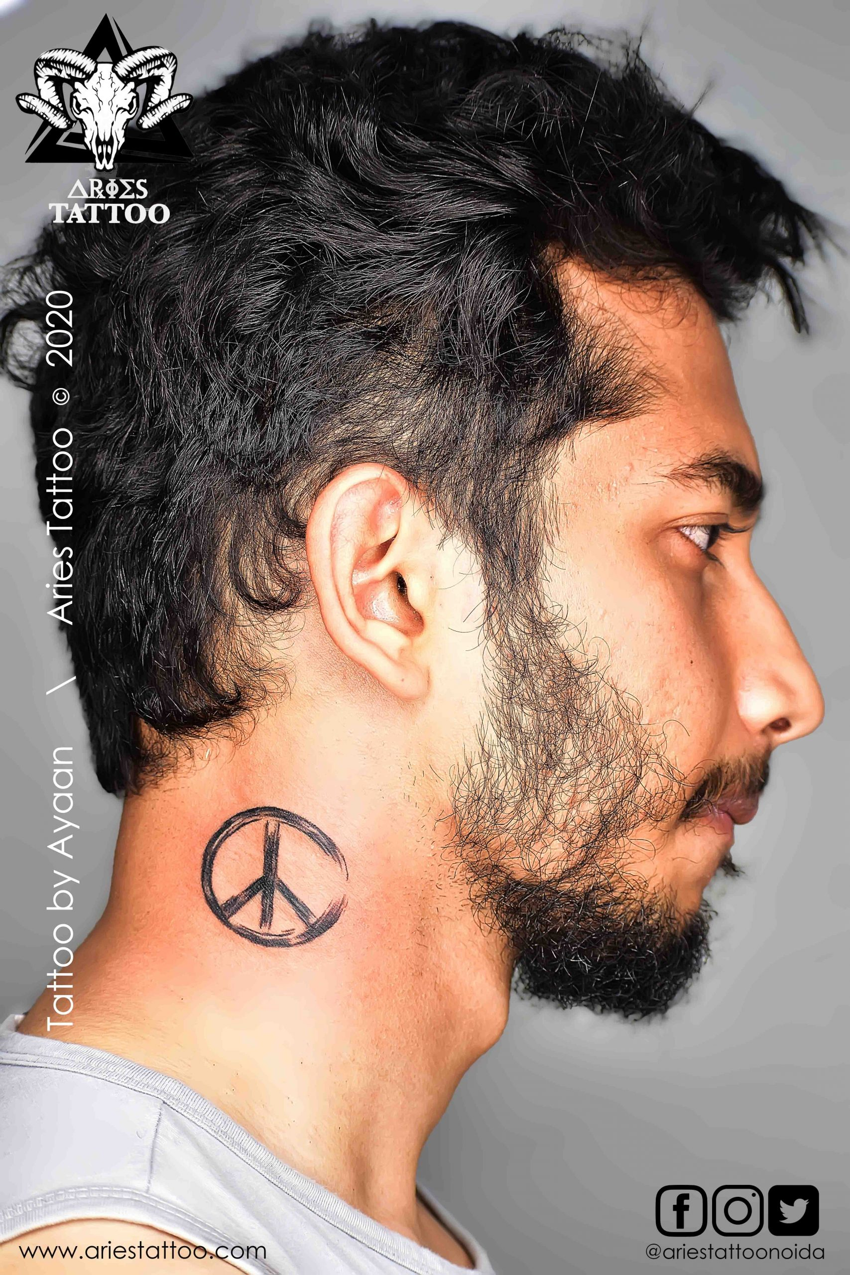 Peace Tattoo By ayaan | |Aries Tattoo Noida | Tattoo Shop and Studio In Noida