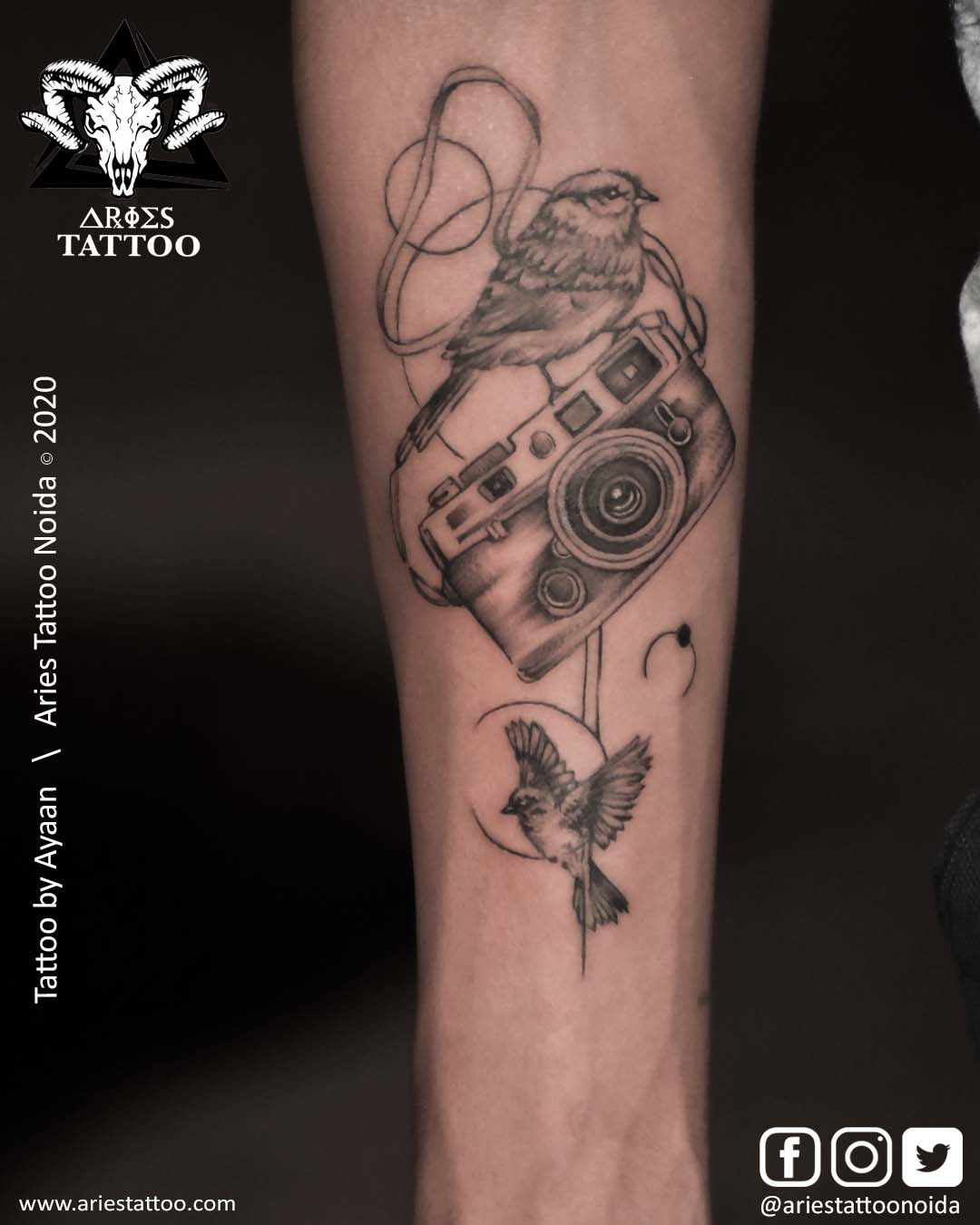 Photography Tattoo_Ayaan_AriesTattooNoida | |Aries Tattoo Noida | Tattoo Shop and Studio In Noida