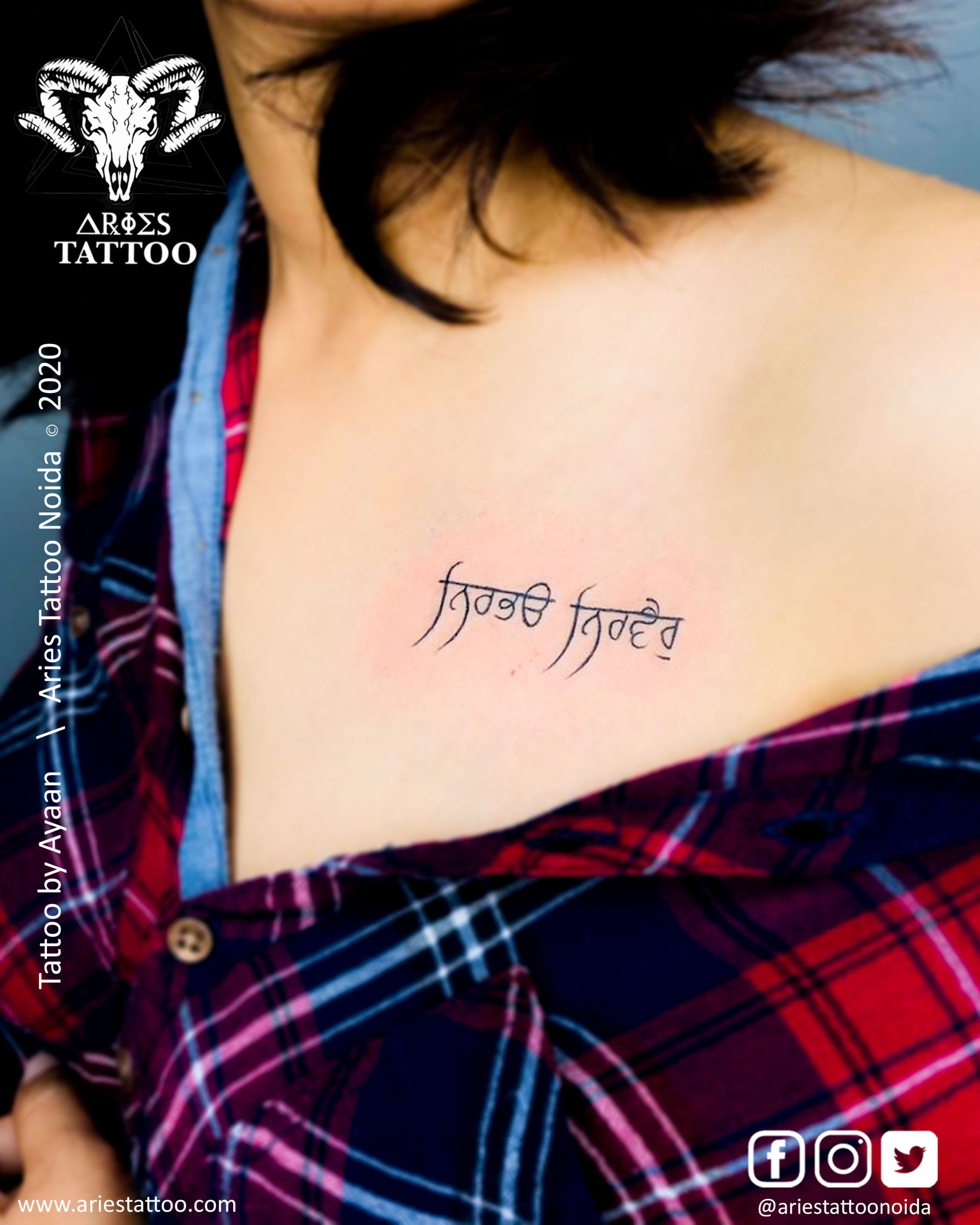 Punjabi script tattoo_ayaan |Tattoo Shop and Studio In Noida