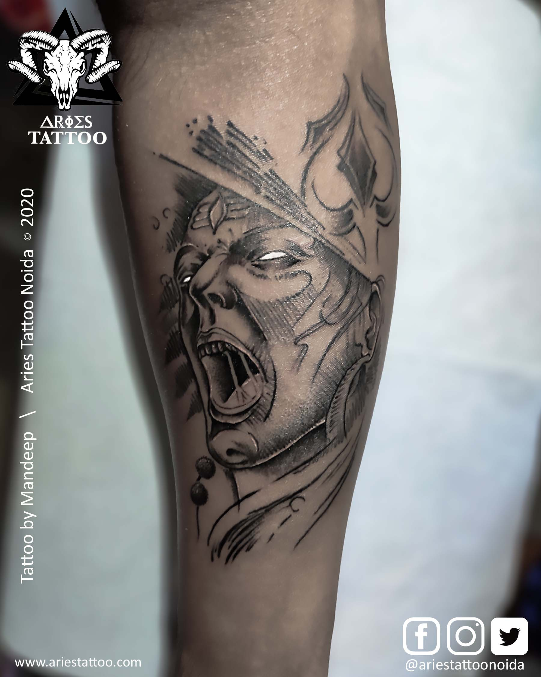 angry lord shiva Tattoo |Aries Tattoo Noida | Tattoo Shop and Studio In Noida
