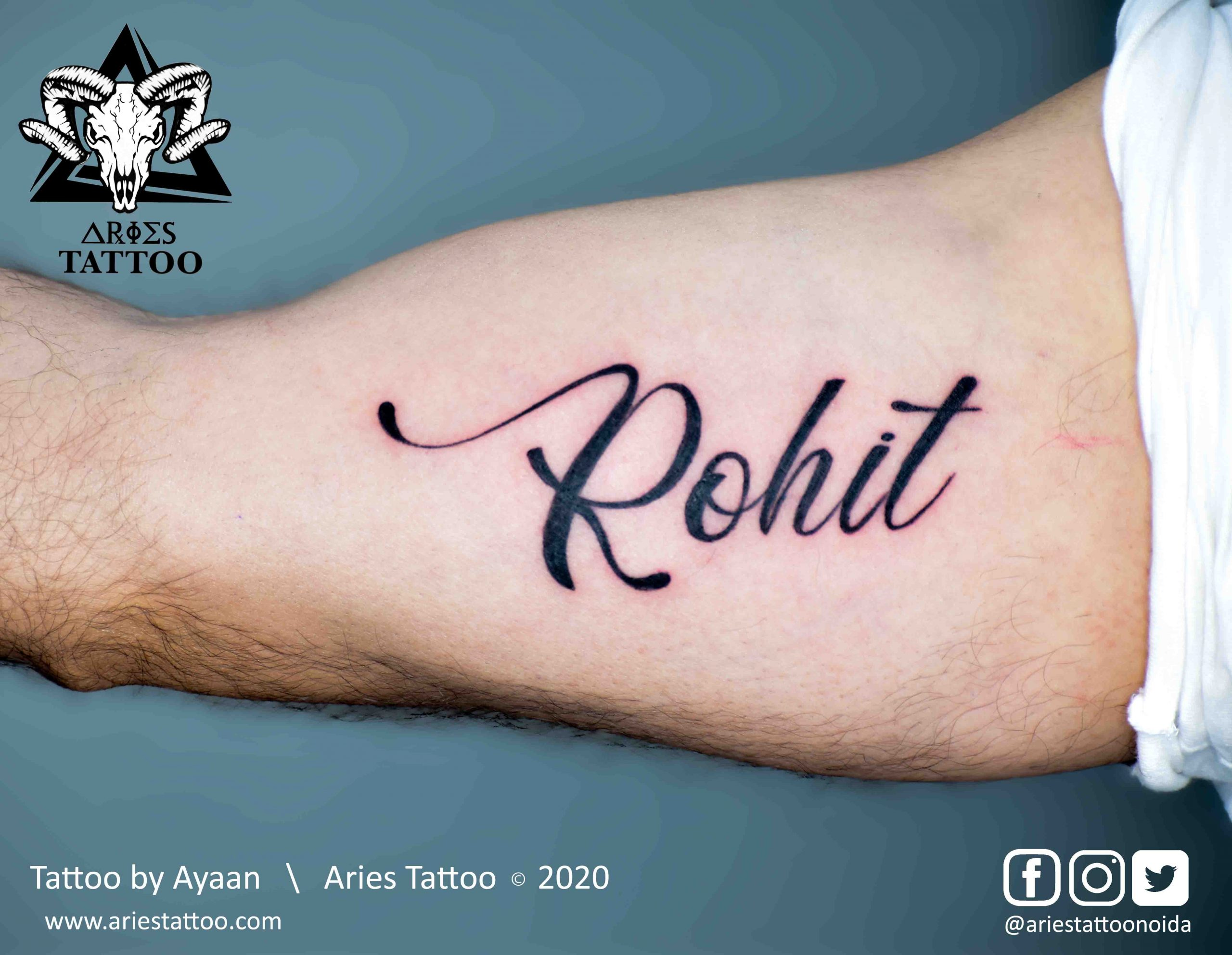 calligraphy tattoo by ayaan| |Aries Tattoo Noida | Tattoo Shop and Studio In Noida