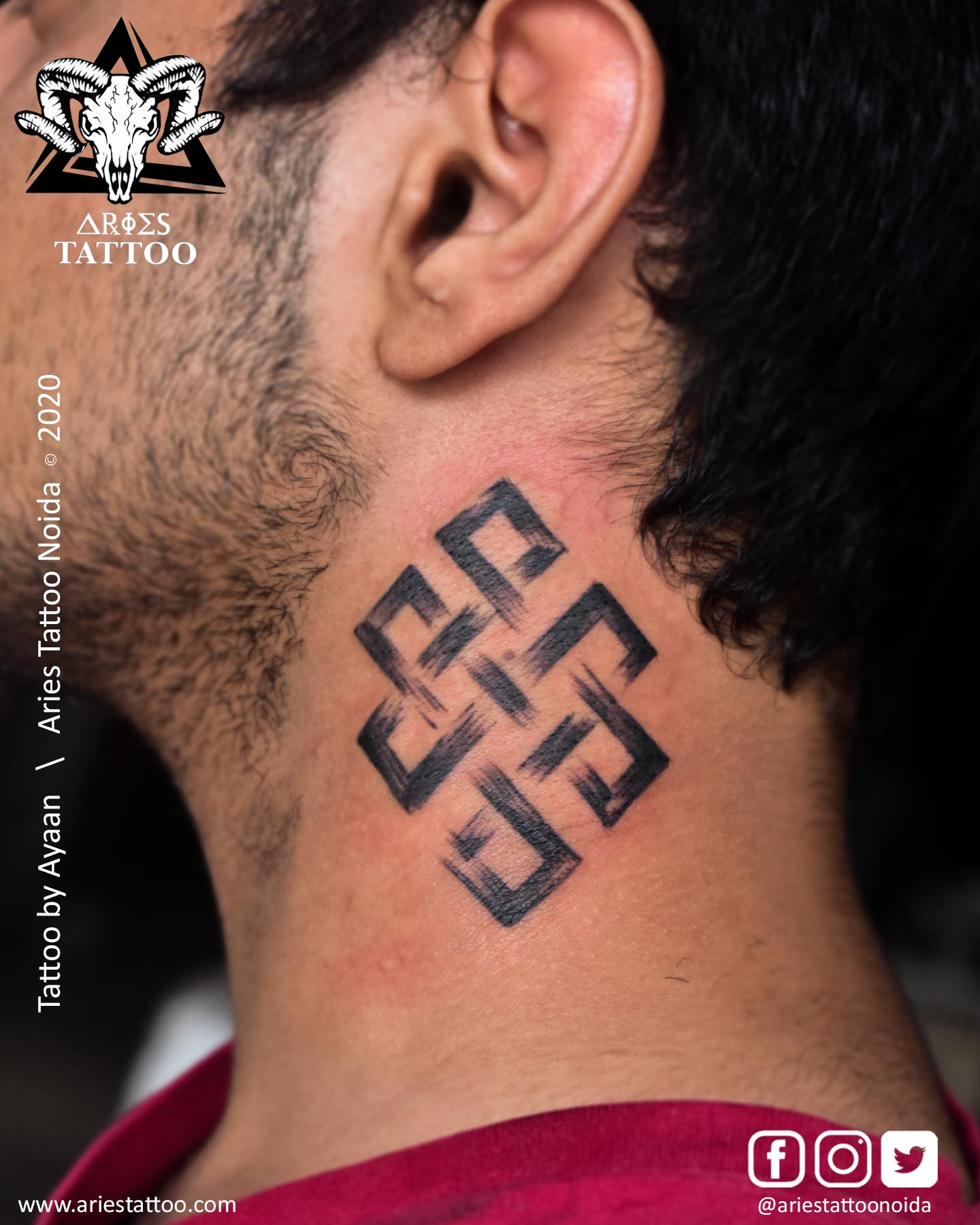 karma tattoo maa_ayaan |Aries Tattoo Noida | Tattoo Shop and Studio In Noida