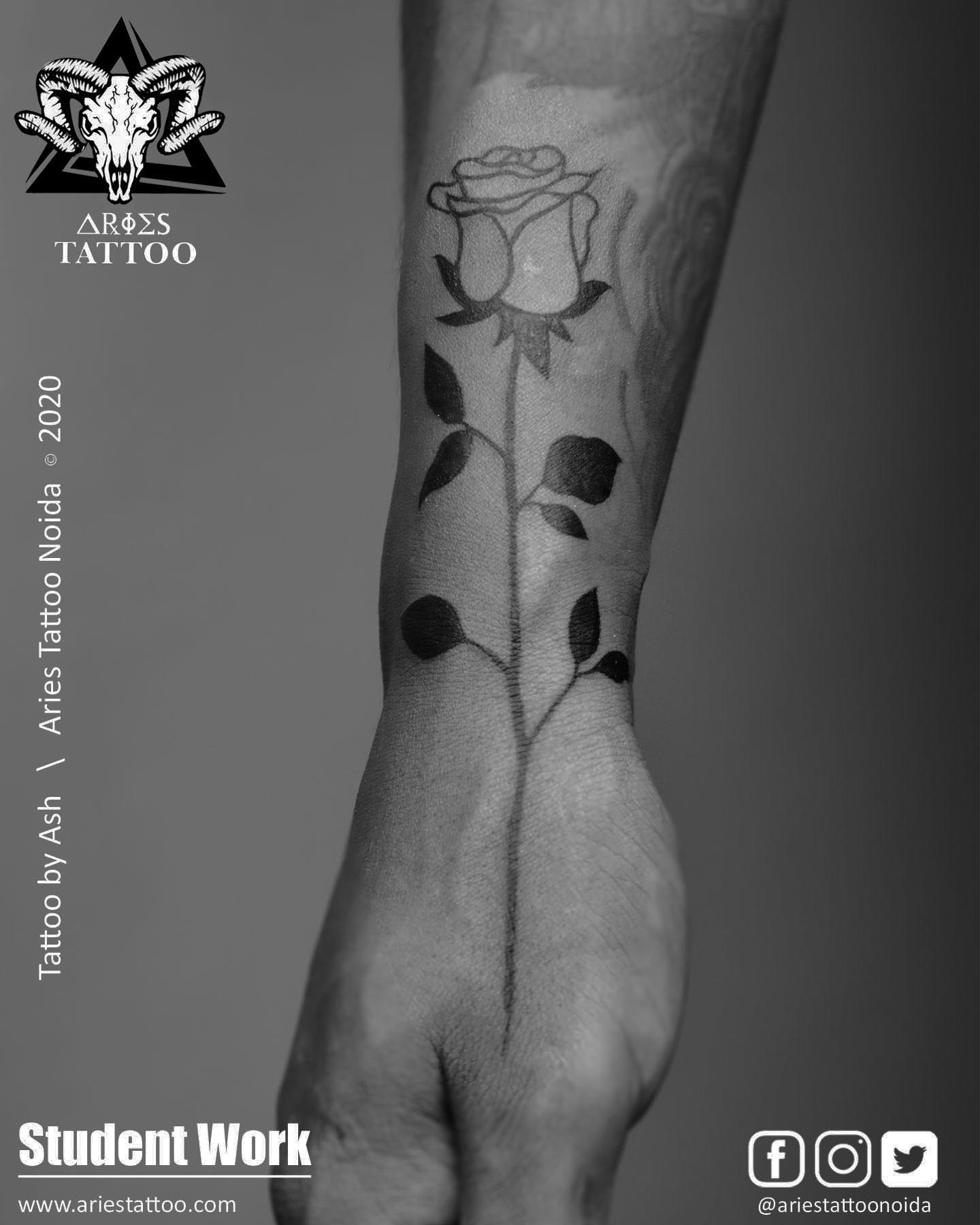 rosetattoo_ash_ |Aries Tattoo Noida | Tattoo Shop and Studio In Noida
