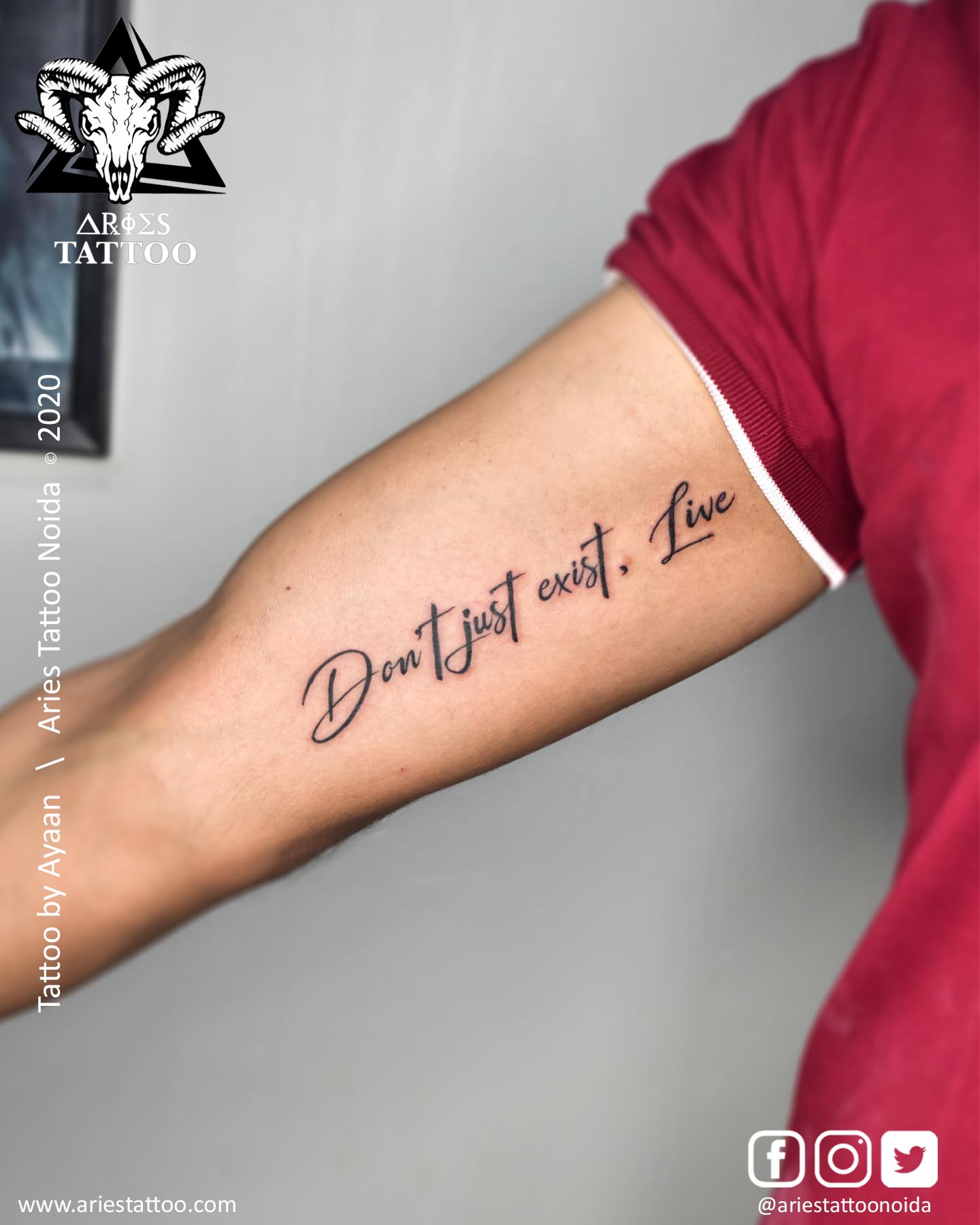 scripted tattoo_ayaan_ariestattoonoida | scripted tattoo_mandeep_ariestattoonoida | |Aries Tattoo Noida | Tattoo Shop and Studio In Noida