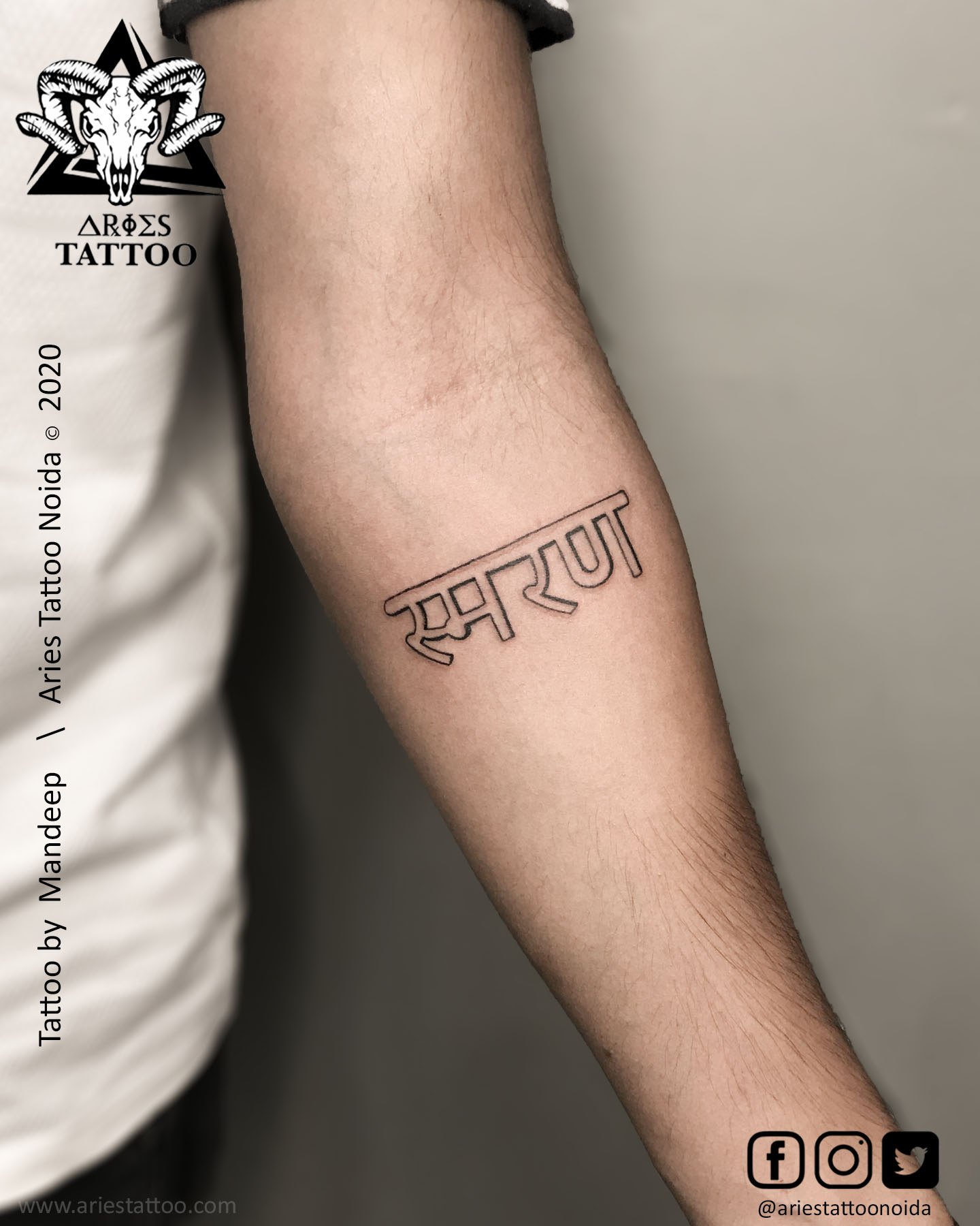 shmaran hindi script_mandeep_ariestattoonoida ||Aries Tattoo Noida | Tattoo Shop and Studio In Noida